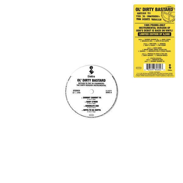 "Ol' Dirty Bastard - Return To The 36 Chambers: The Dirty Version Instrumental - 2LP +7"""